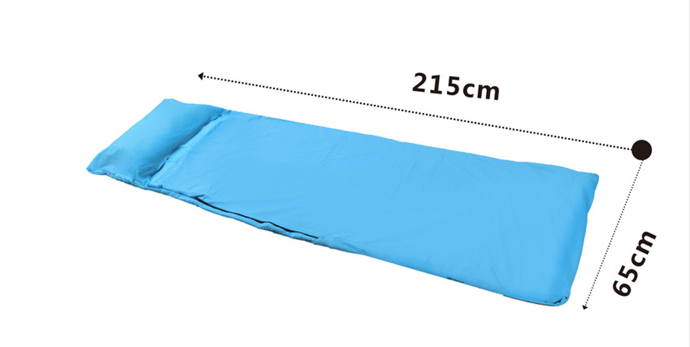 BLUEFIELD Polyester Pongee Camping Envelope Style Sleeping Bag for Hiking