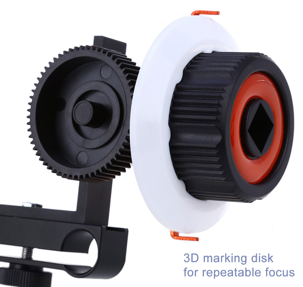 CS - F0 Quick Release Follow Focus 15mm Rod Mount Gear Ring Belt for DSLR Camera DV