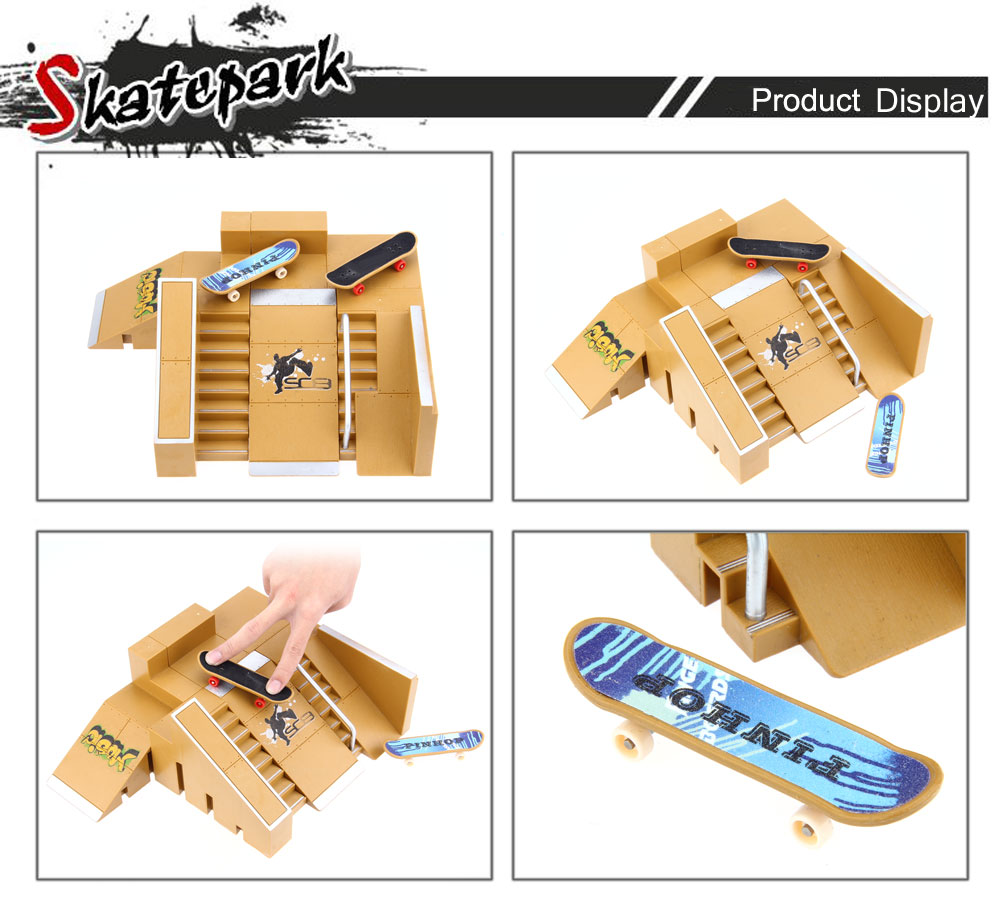 5pcs Skate Park Kit Ramp Parts for Tech Deck Fingerboard