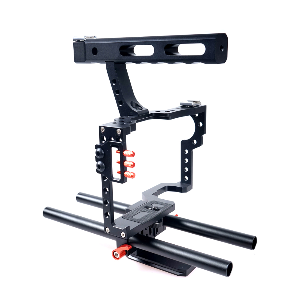 CS - V5 15MM Rod Video Stabilizer Aluminum Camera Cage Rig for Micro DSLR