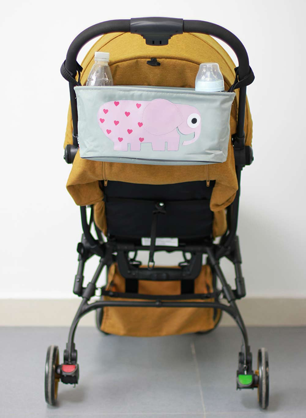 Cute Polyester Babies Stroller Accessories Carriage Bottle Diaper Bag