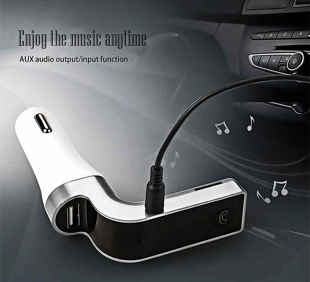 CAR G7 Bluetooth 2.1 EDR Car Charger LED Display Screen Voice Control with Microphone Support Handsfree Call