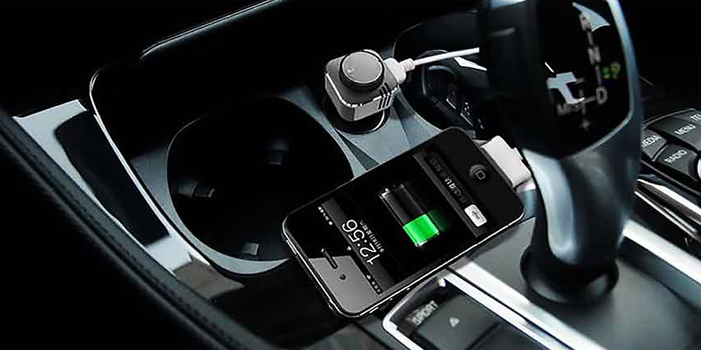 TL10 3 in 1 Car Dual USB Charger Adapter Oxygen Bar Wireless Bluetooth V4.0 Headset Earphone