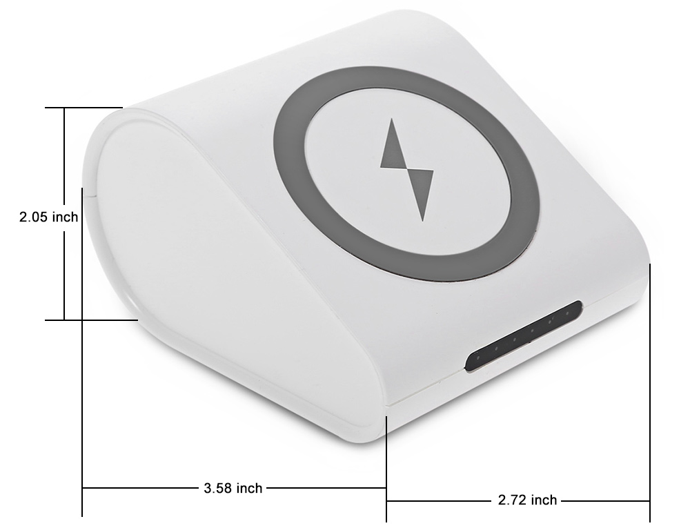 Qi Wireless Charger 10400mAh USB Output Power Bank