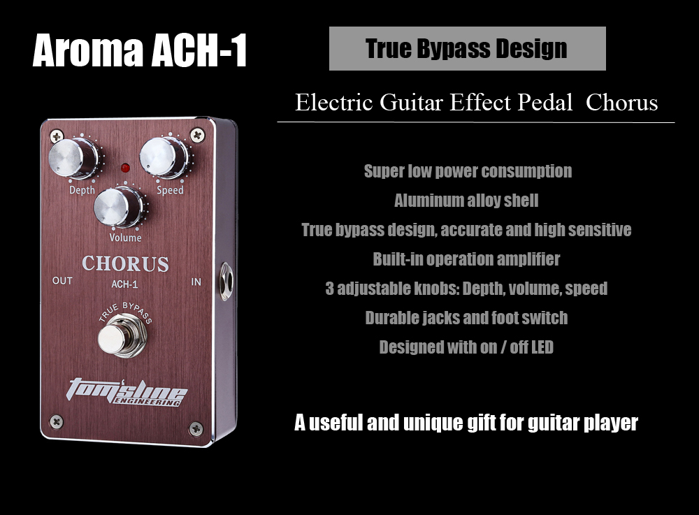 Aroma ACH - 1 Electric Guitar Effects Pedal Chorus True Bypass