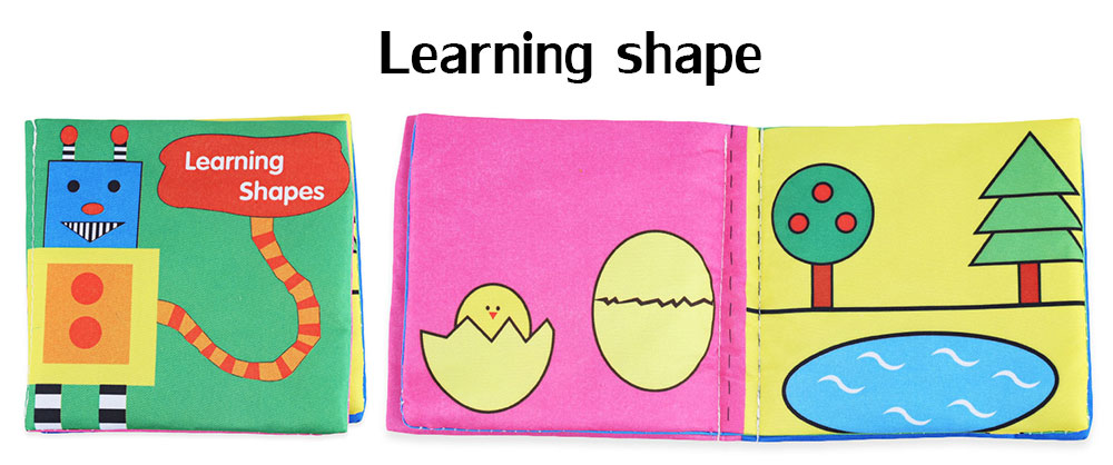 Baby English Early Development Cloth Book Toy