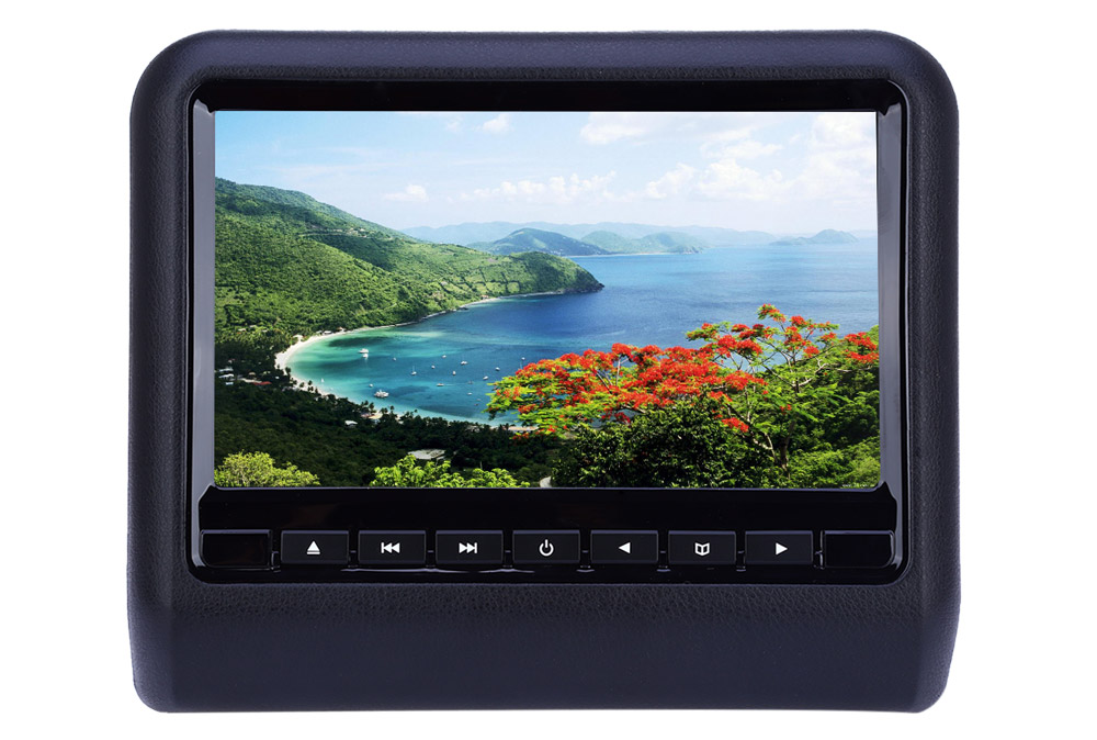 XD9901 9 Inch Car Headrest DVD Player 800 x 480 LCD Backseat Monitor