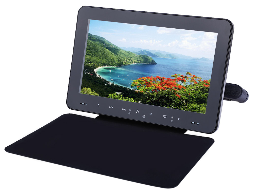 XD9909 9 Inch Car Headrest DVD Player 800 x 480 LCD Backseat Monitor