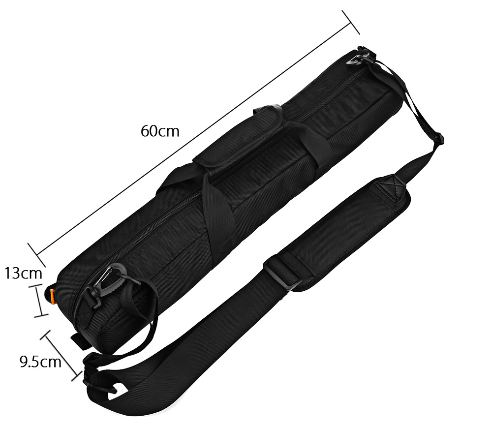 CADEN 60CM Shockproof Camera Tripod Case Carrying Bag with Padded Strap