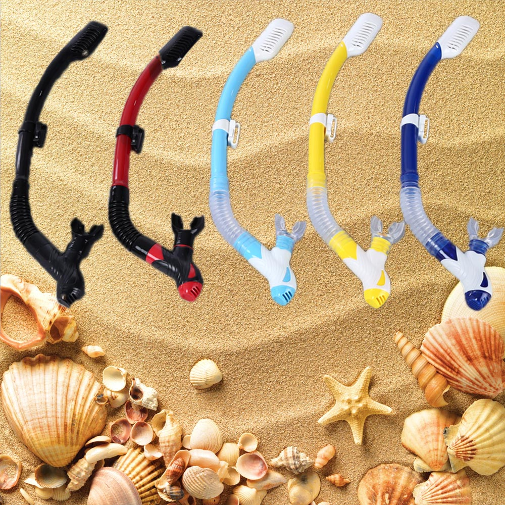 WHALE Snorkeling Scuba Diving Swimming Dry Snorkel with Silicone Mouthpiece Purge Valve