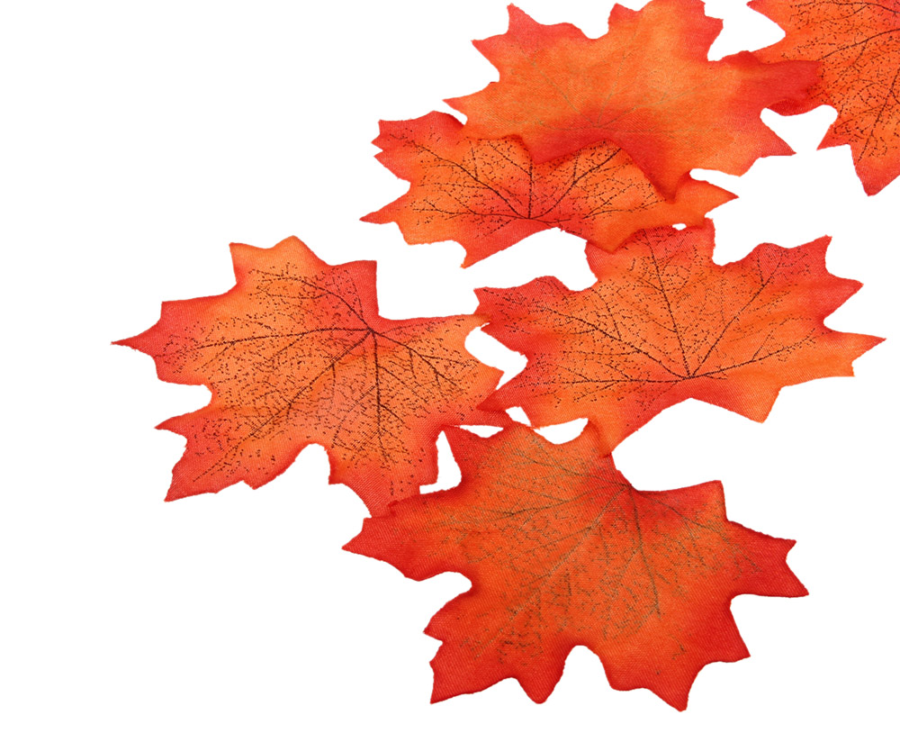 100pcs Artificial Cloth Maple Leaves Wedding Party Decoration