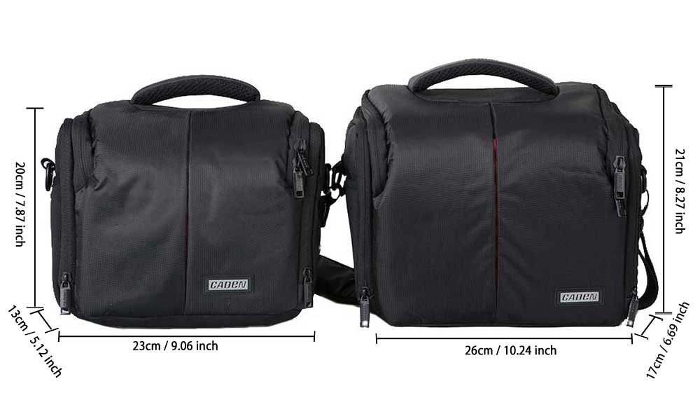 CADEN D3S Water Resistant Nylon One-shoulder Camera Bag for DSLR