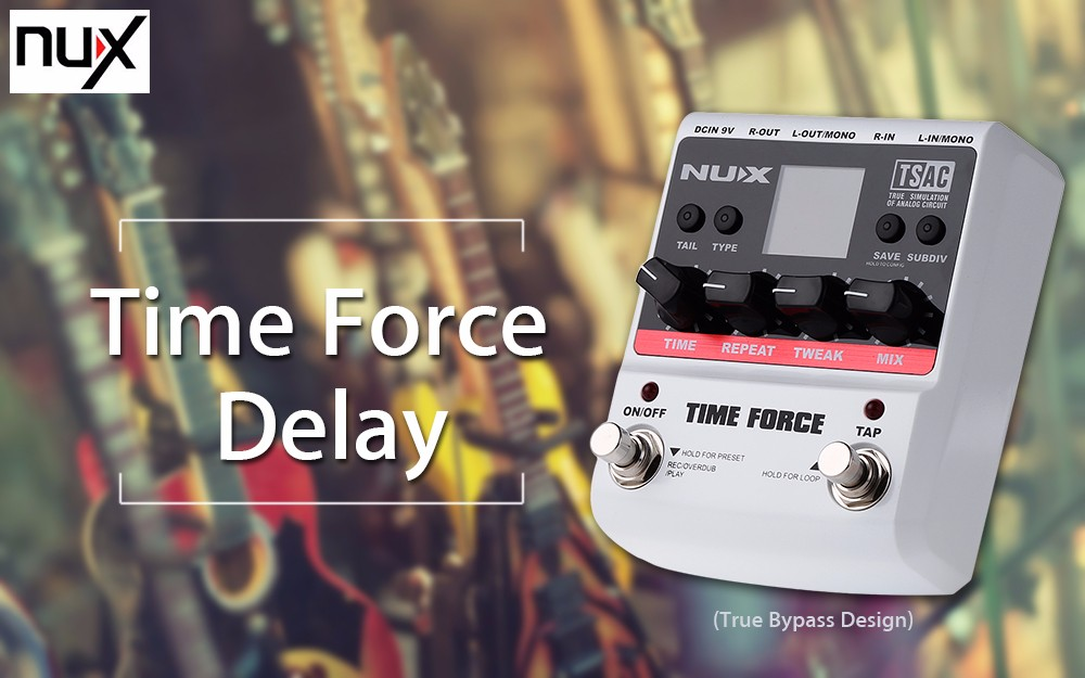 NUX Time Force Digital Delay Electric Guitar Effect Pedal