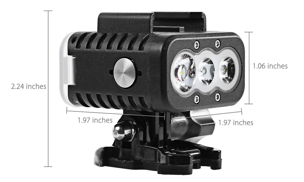 HEYE Portable Diving Fill Light Lamp Torch Camera with Mount Swimming Kit