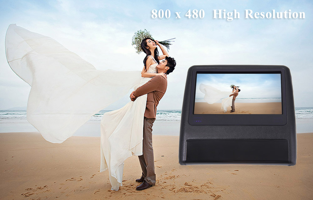 XD9908 9 Inch Car Headrest DVD Player 800 x 480 LCD Backseat Displayer