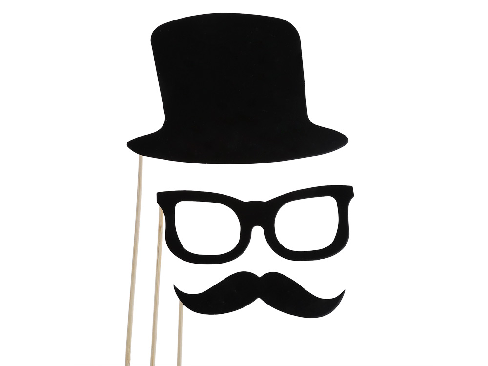 58pcs Colorful Masks Photo Booth Props Mustache On Stick Party Favors