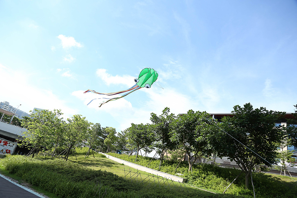 4M Frameless Octopus Style Kite Flying Toy with 30m Line
