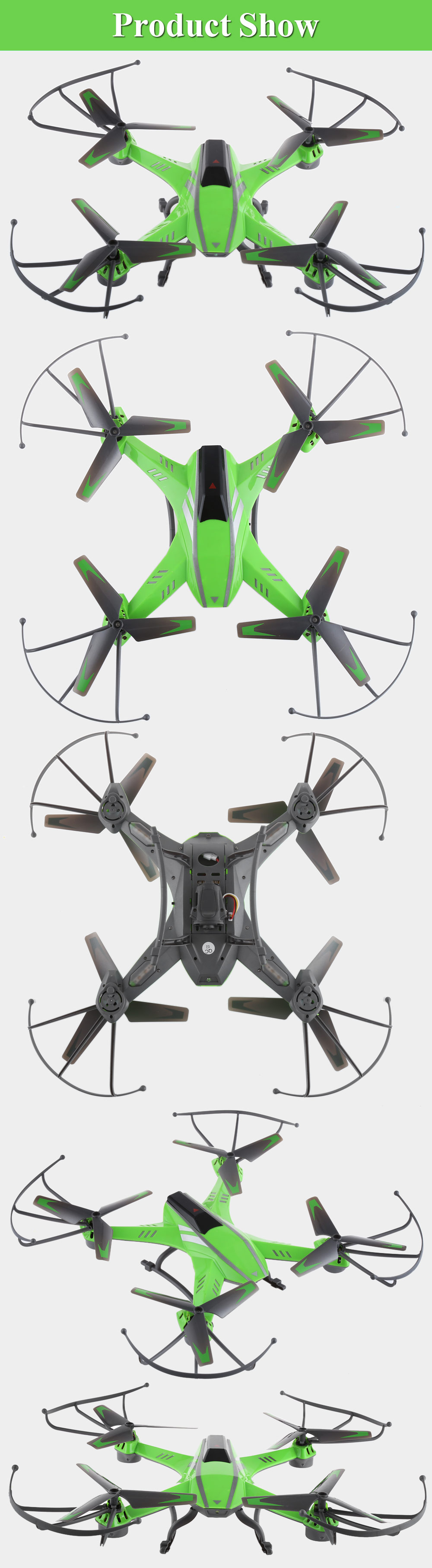 Attop A8 4CH 6-Axis Gyro 2.0MP Camera RC Quadcopter