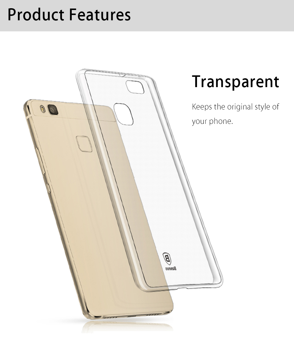 Baseus TPU Soft Back Cover Protective Phone Case for Huawei P9 Lite / G9