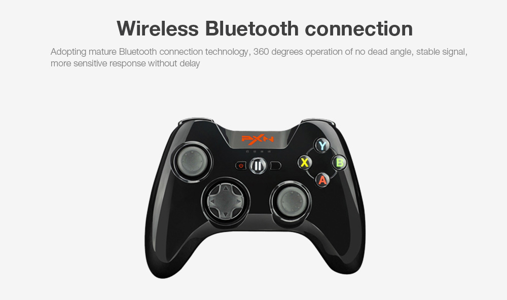 PXN - 6603 MFi Certified Speedy Wireless Bluetooth Game Controller Joystick Vibration Handle Gamepad for iPhone / iPad / iPod Touch / Apple TV