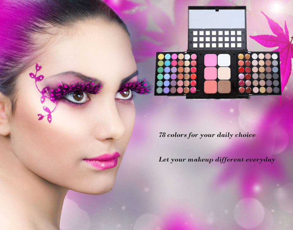 78 Colors Cosmetics Makeup Tool Waterproof Long Lasting  Eye Shadow Palette
