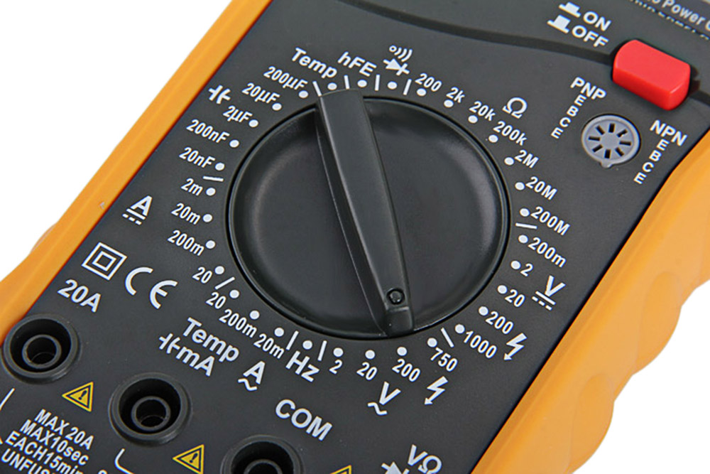PEAKMETER MY64 Digital Multimeter AC / DC Current Voltage Resistance Capacitance Frequency Temperature Multitester