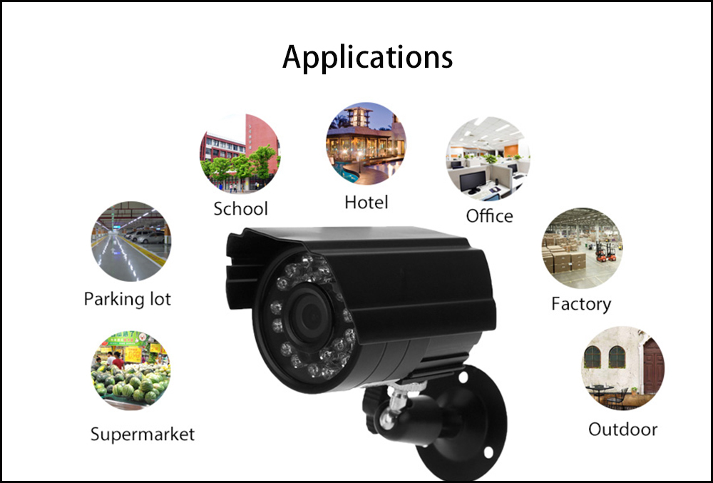 B08 720P IR-CUT Night Vision Outdoor IP Camera with Motion Detection