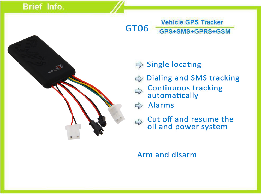 GT06 GPS SMS GPRS Vehicle Tracker Locator Remote Control Alarm