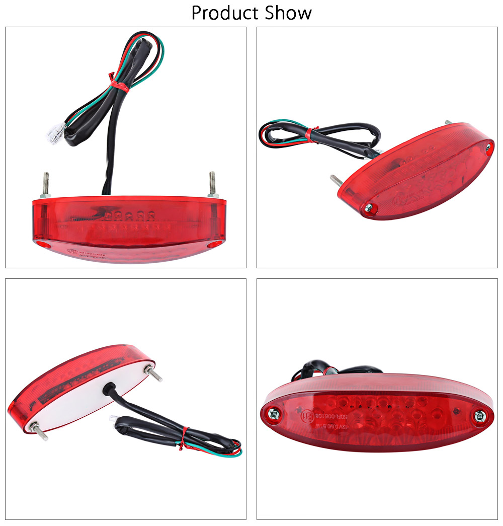28 LEDs 12V Motorcycle Taillight Brake Light Traffic Lamp