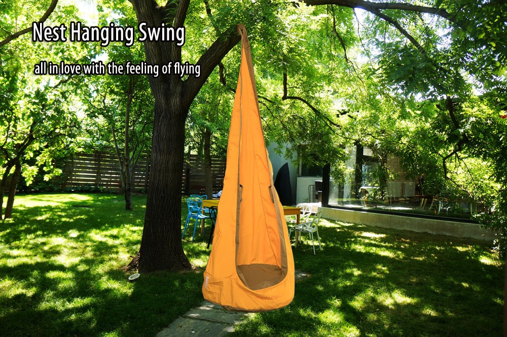 Kids Folding Nest Hanging Swing Inflatable Seat with Pump