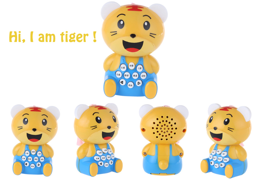 Children Mini Tiger Music Story Learning Machine Toy