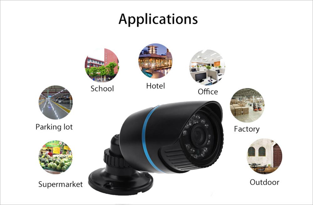 B06 1080P IR-CUT Night Vision IP Outdoor Camera with Motion Detection