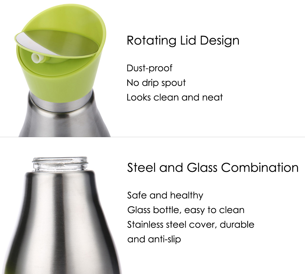 400ml Stainless Steel Glass Leak Proof Oiler