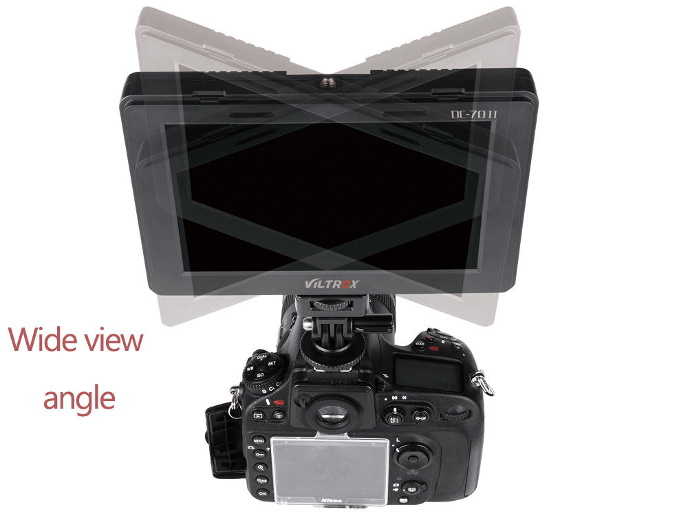 Viltrox DC - 70II 7 Inch Portable Clip-on HDMI In / Out High Definition LCD Monitor for DSLR Camera