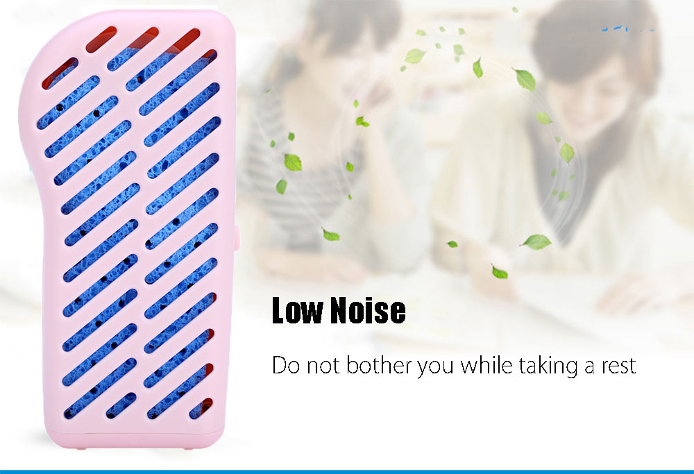 Mini Portable Air Condition USB Rechargeable Water Cooling Fan Smile Face Handheld Cooler