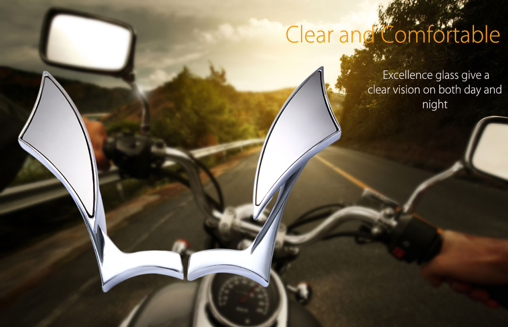 SF - 015 Paired Universal Aluminium Alloy Motorcycle Motorbike Triangle Rearview Mirror
