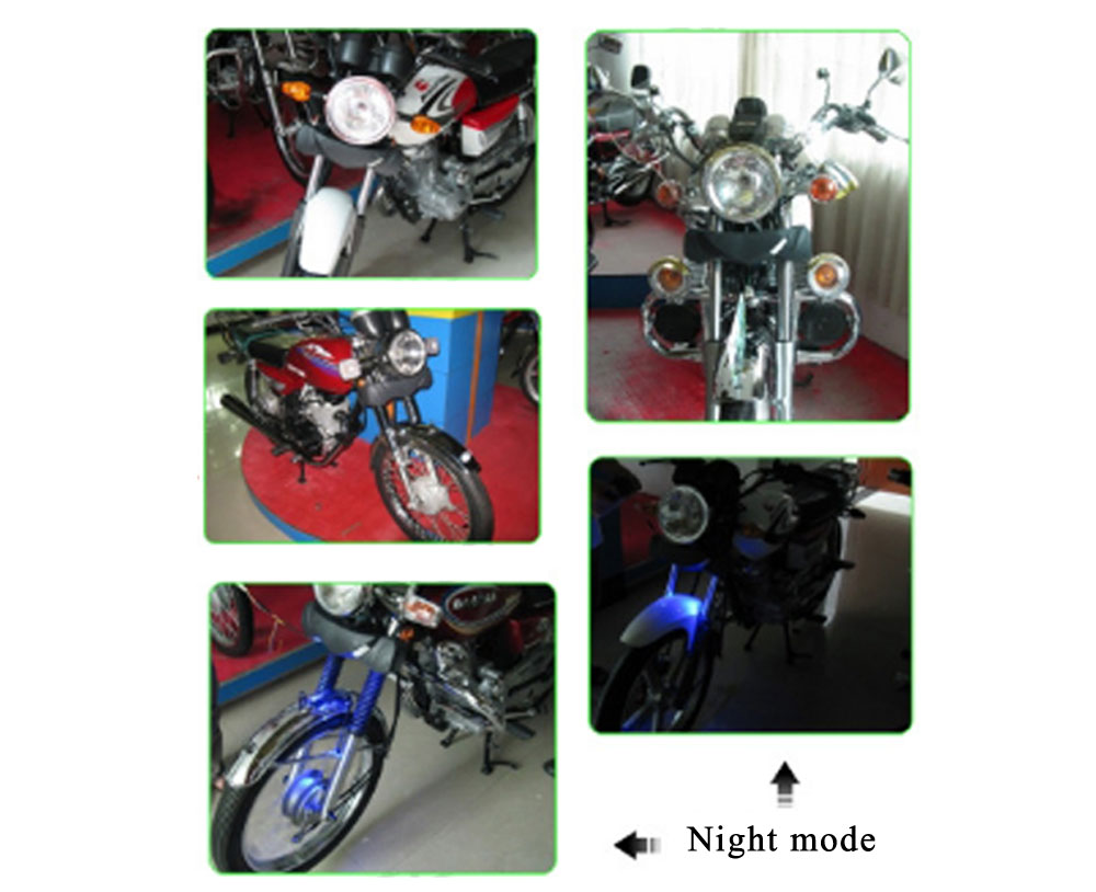 MT482 Motorcycle Headlight Music Player Remote Control Water-resistant Anti-theft Stereo System