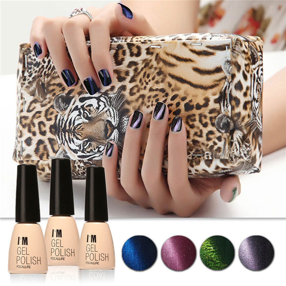 Lasting Bright Colorful LED 30 Colors UV Gel Manicure Cat Eyes Nail Gel