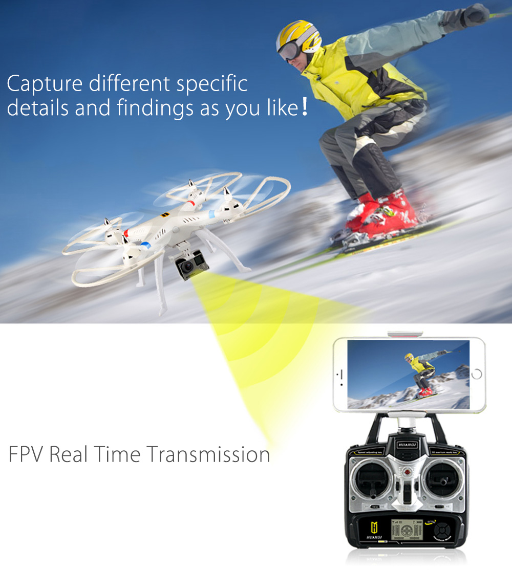 Huanqi H899B005 2.4G 4CH 6-Axis Gyro 720P Camera RTF RC Quadcopter Digital Proportional Drone Toy