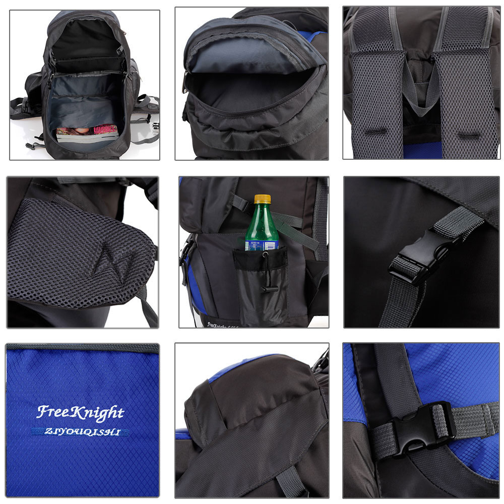 Free Knight FK0218 Outdoor 50L Polyester Water Resistant Backpack Mountaineering Camping Bag