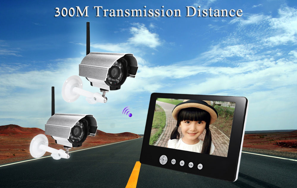 SY903D12 9 Inch TFT LCD Screen Monitor 2.4G Wireless Waterproof Night Vision IP Camera