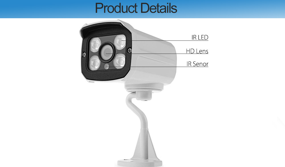 B1007W Outdoor 1080P 2MP Wireless Motion Detection Network Camera