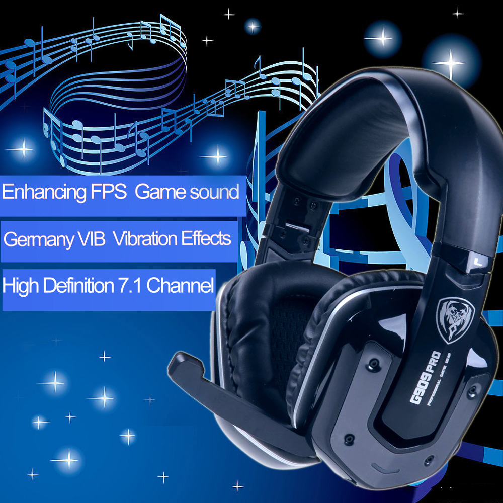 SOMIC G909PRO 7.1 Sound Effect Over-ear Gaming Headphone with Mic