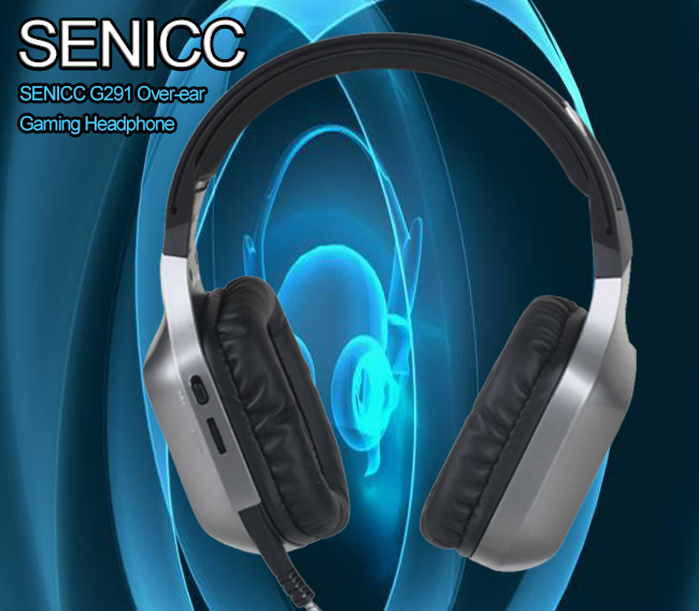 SENICC G291 Over-ear Gaming Headphone with Mic