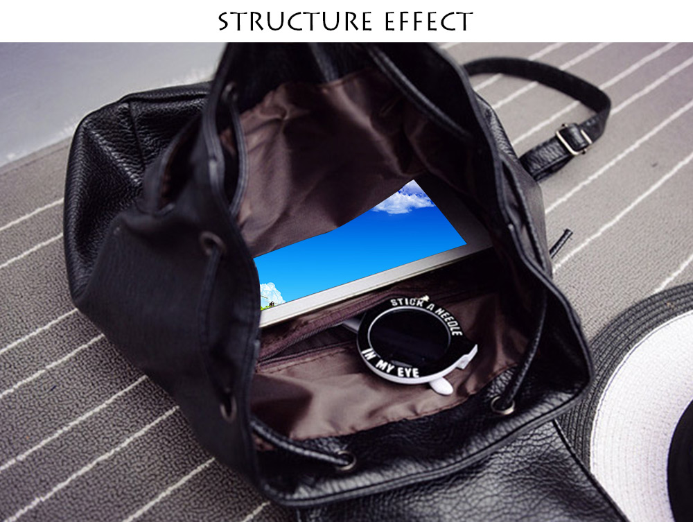 String Magnet Button Cover Portable Backpack for Lady