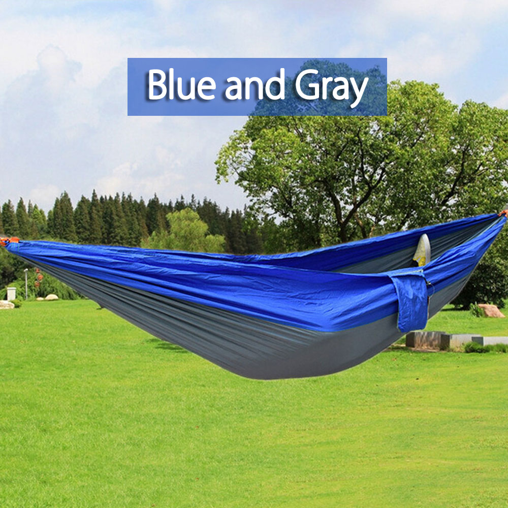2 Person Assorted Color Portable Parachute Nylon Fabric Hammock for Indoor Outdoor Use