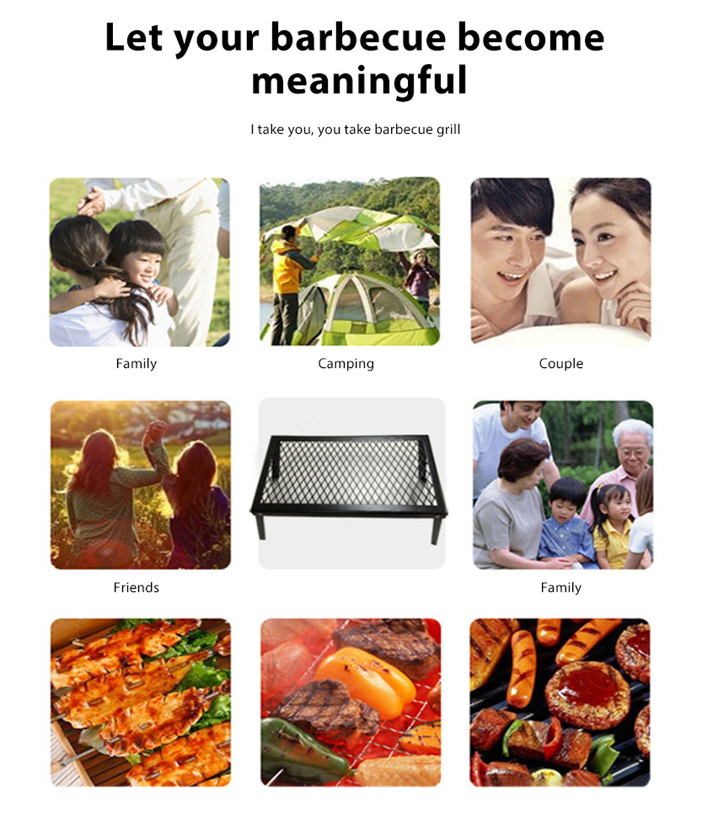 Outdoor Portable Folding Mini Barbecue Grill Tool
