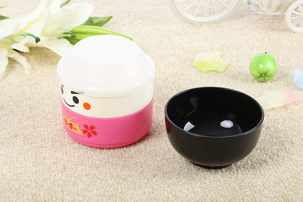Vacuum Thermal Double layer Lovely Doll Lunch Box for Kids Boy