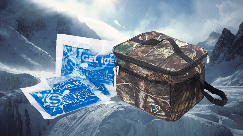 519 Camouflage Double Insulated Lunch Box Bag Water Resistant Thermal Cooler Container