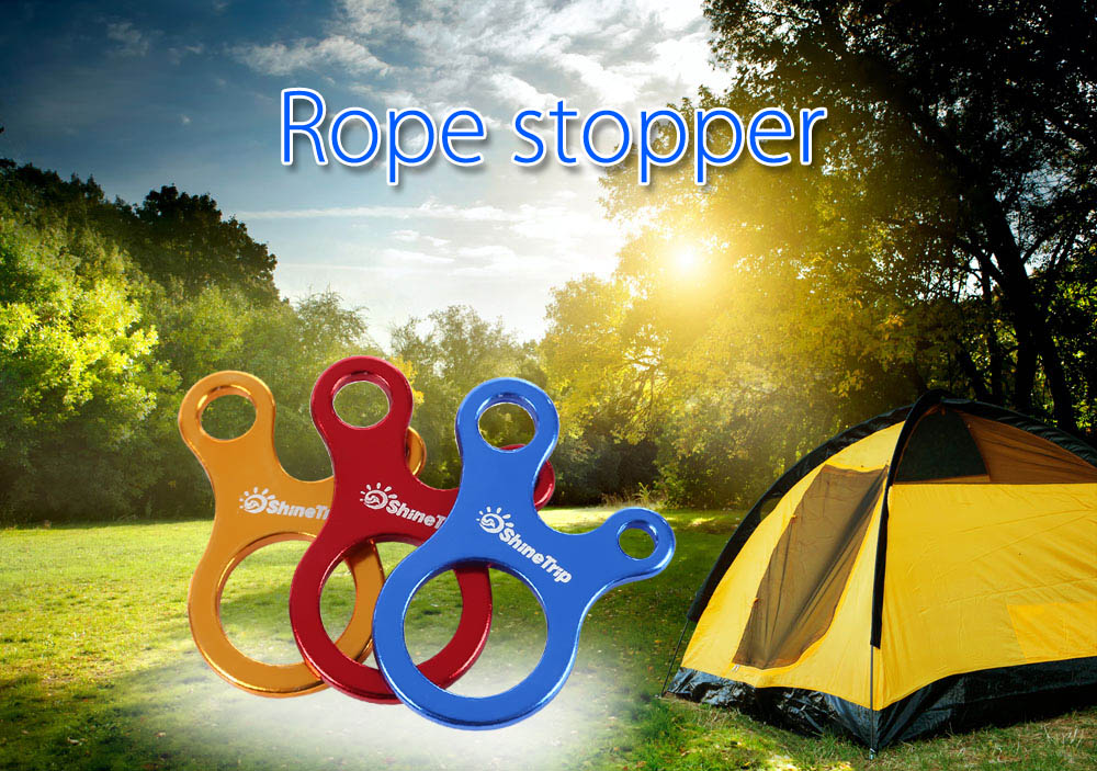 SHINETRIP 5pcs Knots Tool Climbing Buckle Carabiner Anti-slip Rope Hook